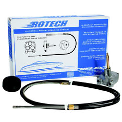 Uflex Usa Rotech10fc Rotech 10and039 Rotary Steering Package Cable Bezel Helm