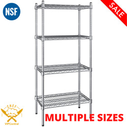 Nsf Chrome Epoxy 4-shelf Kit With 54 In. Posts Wire Shelving Kits Multiple Sizes