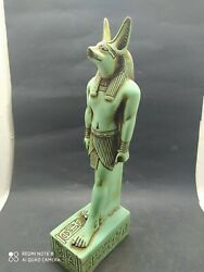 Raer Antique Anubis Ancient Egyptian God Of The Afterlife Figurine Stone 28 Cm