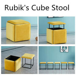 5 In 1 Folding Sofa Table Chairs Stool Seat Cube Storage Funiture Home Bench Us