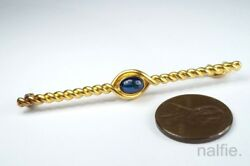 Antique Russian 14k Gold And Sapphire Bar Brooch C1900 By Anders Mickelson Faberge