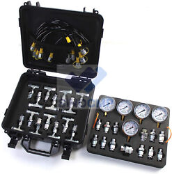 Hydraulic Pressure Gauges Kit With 24 Coupling Hydraulic Gauge Kit For Excavator