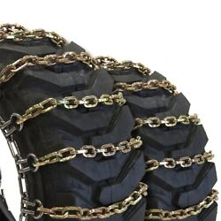 Titan Alloy Square Tractor Tire Chains 2 Link Space Ice Snow Mud 11mm 18.4-16.1