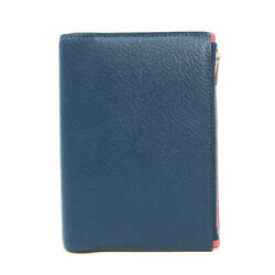 Hermes Pocket Size Planner Cover Navy,pink Ea Zip Notebook Cover Bf528526