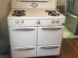 Vintage White Working Gas Cook Stove 1930and039s Roper Antique