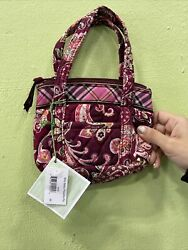 Vera Bradley BITTY BETSY Retired Picadilly Zip Small Tote Cosmetic PURSE Bag $39.99