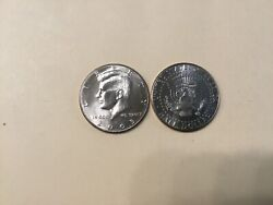 2005 Pd Kennedy Half Dollar 2 Coin Set Bu From Us Mint Rolls Or Bags