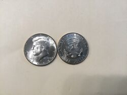 2016 Pd Kennedy Half Dollar 2 Coin Set Bu From Us Mint Rolls Or Bags