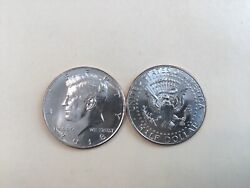 2018 Pd Kennedy Half Dollar 2 Coin Set Bu From Us Mint Rolls Or Bags