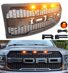 For Ford F150 Grille Bumper Grill Fit 2009-2014 Raptor Style Grill W/lettersandled