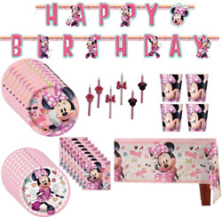 Minnie Mouse Birthday Party Supplies Pack Bigsmall Plates Cups Napkins Table