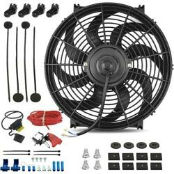 14 Inch 120w Electric Engine Radiator Cooling Fan Bar Toggle Switch Wiring Kit