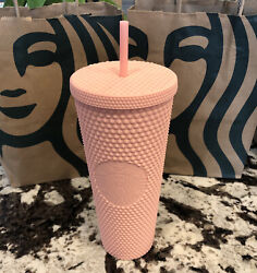 Starbucks Spring 2020 Limited Edition Matte Pink Studded Tumbler 24oz Collection