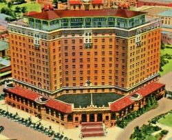 Vintage Postcard Baker Hotel Haunted Mineral Wells Tx C.1940and039s Bn3
