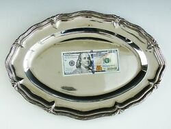 Antique 19th Century French Signed Odiot 950 Sterling Silver Platter