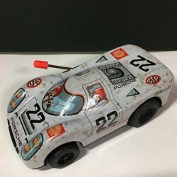 1960s Vintage Wind-up Tin Car Toys Porsche Made In Japan Racing Car Jpn F/s Used