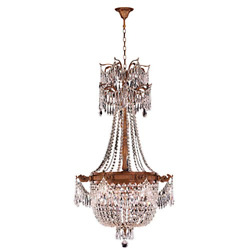 Worldwide Lighting Winchester Collection 4 Light French Gold Finish And Clear D