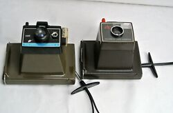 2 Vintage Polaroid Land Cameras Colorpack Ii And Zip Free Us Shipping