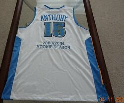2003-04 Upperdeck Ud Carmelo Anthony Auto Rc Jersey Limited 7/15