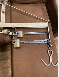 Antique Chatillon Industrial Meat Scale 600 Lb Wall Mount