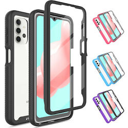 For Samsung Galaxy A32 5G Clear Case Hybrid Cover With Built in Screen Protector