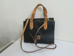DOONEY amp; BOURKE SMOOTH LEATHER GIA BLACK SATCHEL BAG PURSE AS IS $99.99
