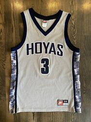 Nike Authentic Allen Iverson 3 Georgetown Hoyas Jersey Size 44 Large L