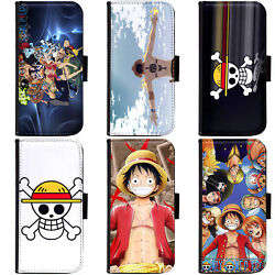Pin-1 Anime One Piece Phone Wallet Flip Case Cover For Samsung S Note Series