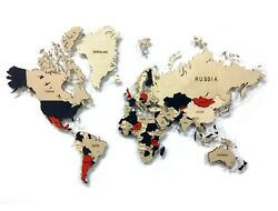 Multi-level Map Of The World London 3d Wall Art Decor Office Home Decoration
