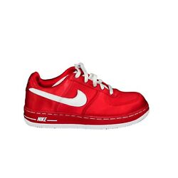 Nike Air Force 1 Ps 314220 611 Girls Shoes Red Fabric Sneakers Vintage 2006 Sz2y