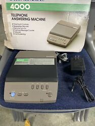 Phonemate Model 4000 Answering Machine Vintage Mint Condition W/ Ac Adapter