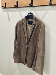 Authentic Rt 5500 Giorgio Armani Leather Jacket Made In Italy