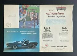 1961 Pontiac Tempest Lemans Ad Brochure Indian Poster - The Plank House Mailer.