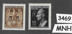 3469mnh Stamp Imperial Eagle And Heydrich Czechoslovakia German Occupation Wwii