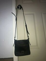 Dooney amp; Bourke Black Leather Crossbody Bag $50.00