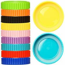 Youngever 27 Pack Plastic Mason Jar Lids With Airtight Ring For Regular Mouth Ba
