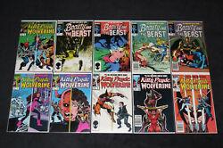 Kitty Pryde And Wolverine 1 2 3 4 5 6 Beauty And The Beast 1 2 3 4 Dazzler Lot