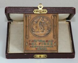 Medal 1931. 1st National Flower Show. Florence - Cellini. By - Mario Nelli. Rrr