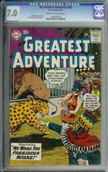 My Greatest Adventure 28 Cgc 7.0 Cr/ow Pages // Jack Kirby Art 1959
