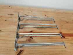 4 Iron Hangers Display Clothing/technology Stores Supports Panel Wall With Hook