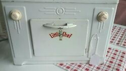 Vintage Little Chef Toy Stove Oven Range Metal Tin Toy 1950s - Works