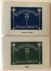 Stickley Brothers Reproduction Catalogs - 1906 And 1908 Quaint Furniture