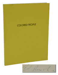 Colored People Signed By Edward Ruscha First Edition 1st 1972 La Ed
