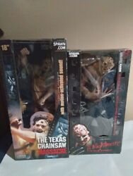 Movie Maniacs New Leather Face And Used Freddy Krueger