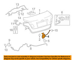 Toyota Oem 07-11 Camry Trunk-lock Or Actuator Latch Release 6460006010
