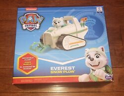 Paw Patrol Everest Snow Plow Vehicle Toy New Free Shipping
