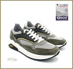 Igi Co Menand039s Shoes Sneakers Leather And Canvas Memory Foam Sports Summer And