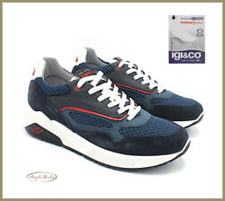Igi Co Menand039s Shoes Sneakers Leather And Canvas Memory Foam Sports Casual Summer