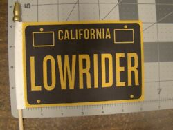 California Lowrider Car Truck 4x6 Inch Flag For Parade License Plate Topper