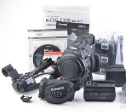 Exc++ Canon Eos C100 Mark Ii +2batts, Ac Adapter, Charger, Boxed, 973 Hours Nice